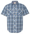 Vintage Plaid Short Sleeve Shirt 161216