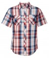 Burnside Young Mens Plaid Short Sleeve Shirt 161295